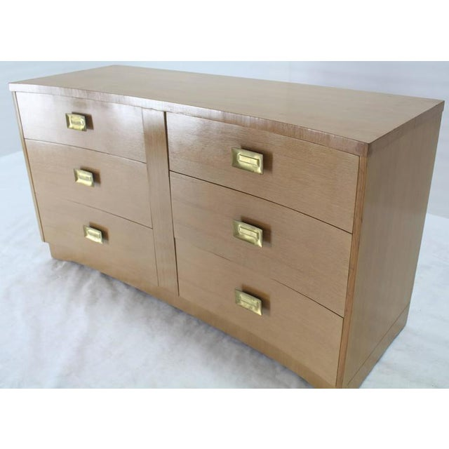 Mid 20th Century Concave Front Mid-Century Modern Cerused Long Dresser For Sale - Image 5 of 7