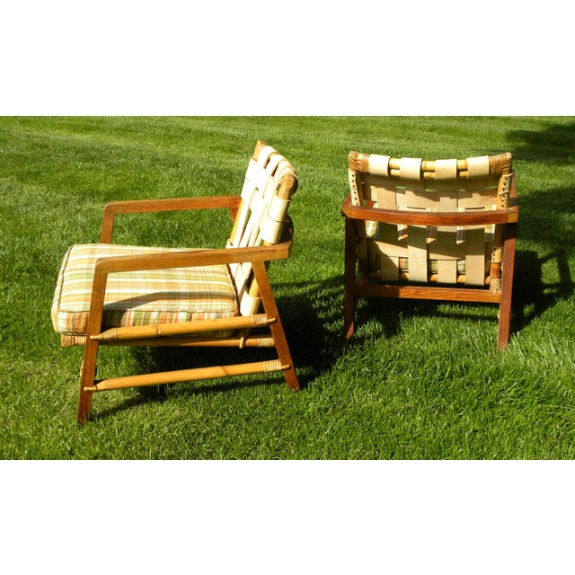 Ficks Reed Vintage Day Bed & Leather Back Chairs For Sale - Image 9 of 11