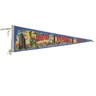 Vintage New York City Felt Flag Pennant For Sale