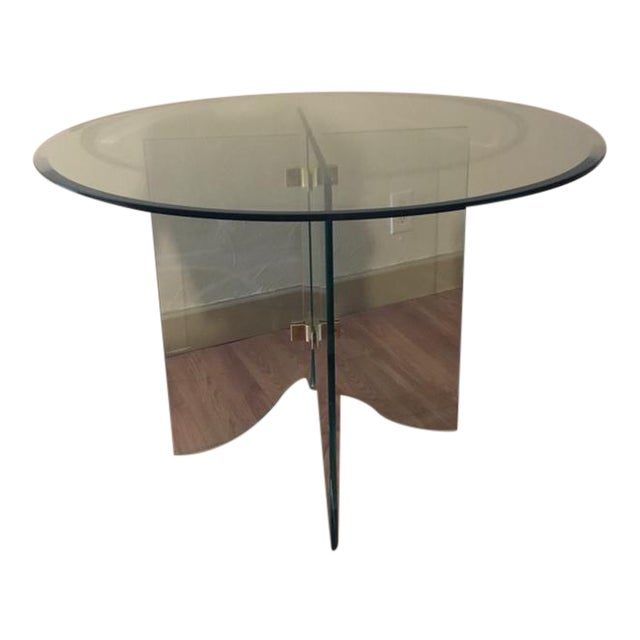 Pace Pedestal Glass Dining Table, Circa 1970 - Image 1 of 5