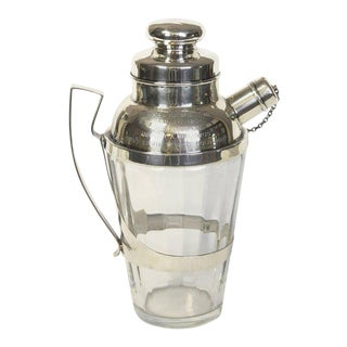 Sterling Silver & Crystal Cocktail Shaker For Sale