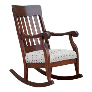 Antique Craftsman Rocking Chair For Sale