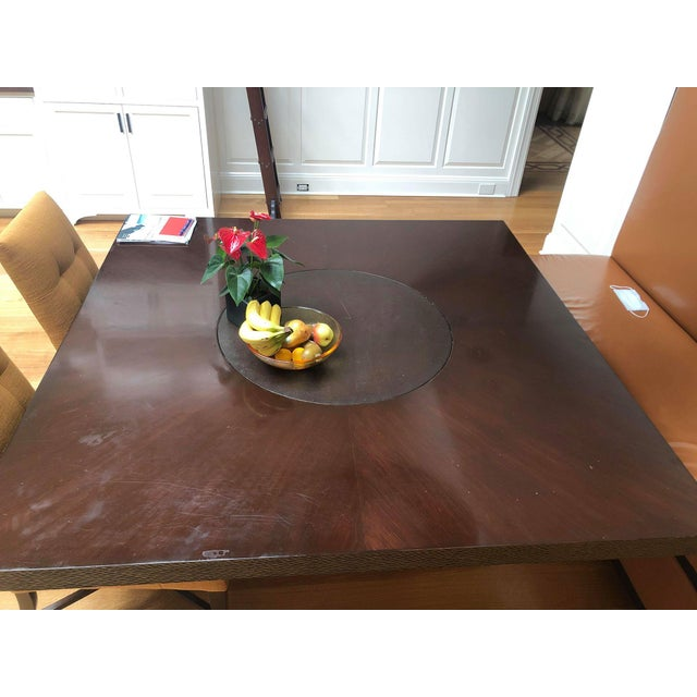 2010s Custom-Made Wooden Kitchen Table For Sale - Image 5 of 7