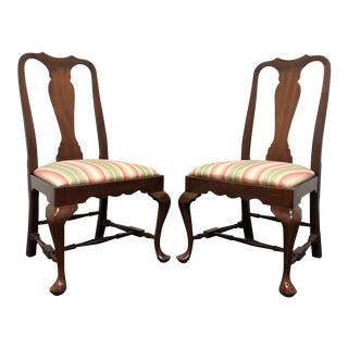 1980s Henkel Harris Spnea Mahogany Queen Anne Dining Side Chairs 104s 29 1 - a Pair For Sale