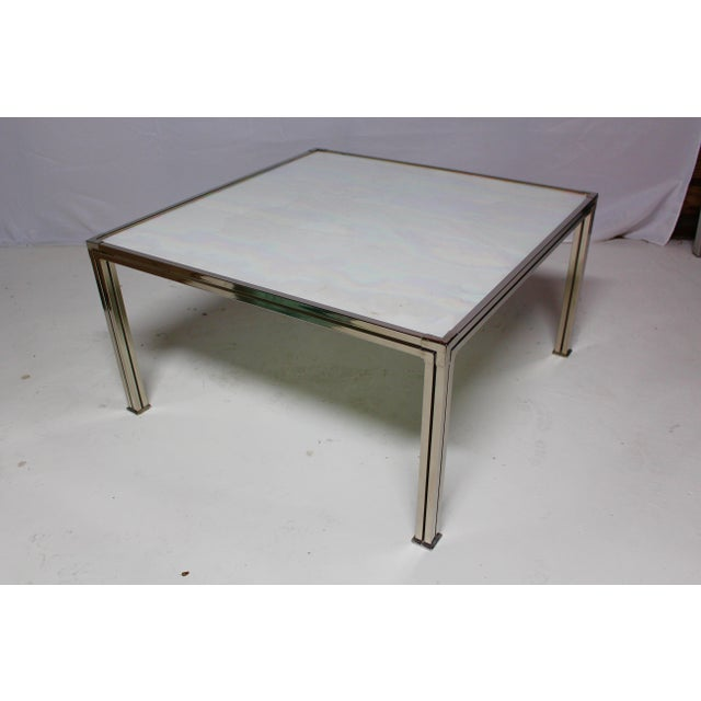 Chrome Coffee Table With Opal Slag Glass - Image 5 of 6