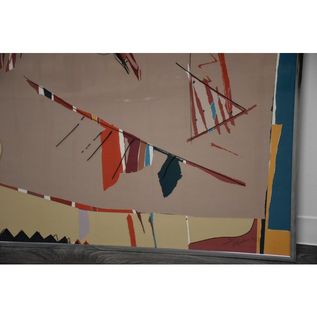 1980s Sally Anderson Large Abstract Painting For Sale - Image 5 of 10