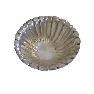 Vintage Mid Century International Sterling Silver Fluted Bowl For Sale