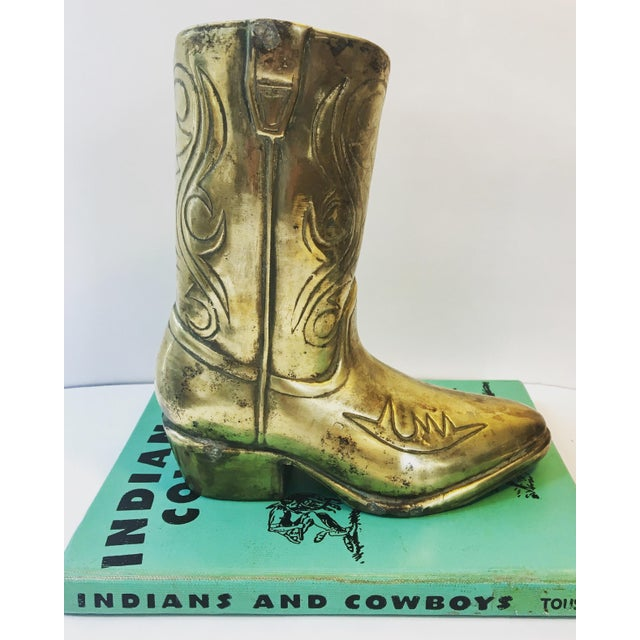 Vintage Brass Cowboy Boot Vase Chairish