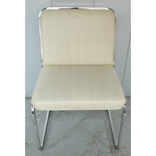 Set of Four Cantilever Chairs by Brueton For Sale In New York - Image 6 of 8