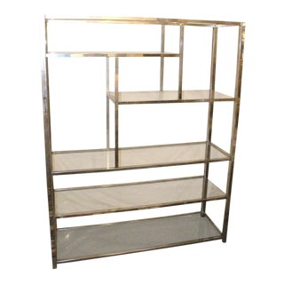 20th Century Modern Metal Etagere For Sale