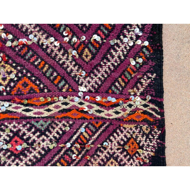 1950s Moroccan African Zemmour Ethnic Textile Rug For Sale In Los Angeles - Image 6 of 13