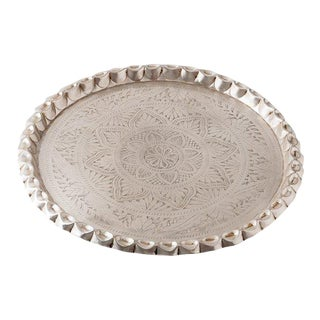 Nani Pinched-Edge Silver Tray For Sale