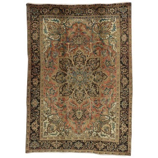 20th Century Traditional Persian Heriz Rug - 7′ × 9′10″ For Sale