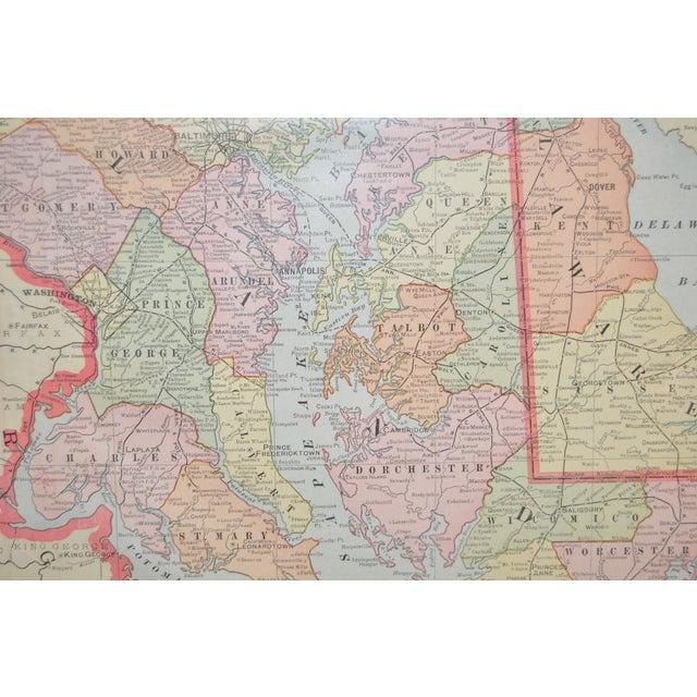 Vintage Maryland & Delaware Map C.1950 - Image 4 of 4