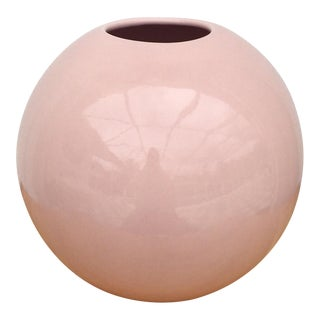 1980s Pink Haeger Pottery Vase For Sale