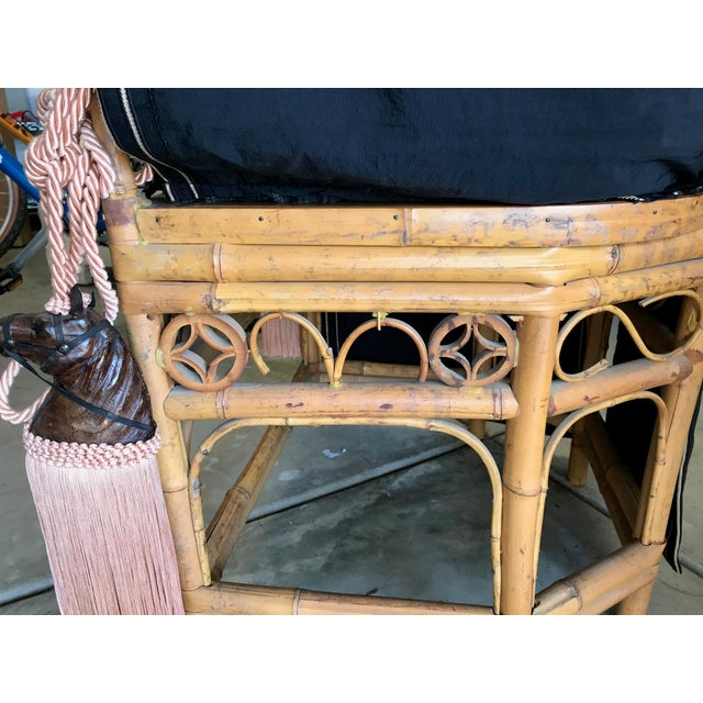 Thomasville Brighton Pavillion Vintage Rattan Chair - Set of Four For Sale In San Diego - Image 6 of 13
