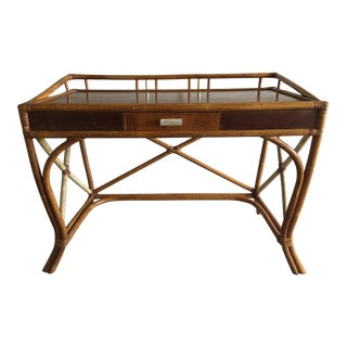 1950s Mid-Century Modern Tommi Parzinger for Willow and Reed Writing Desk For Sale