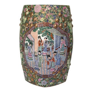 Asian Hand Painted Garden Stool