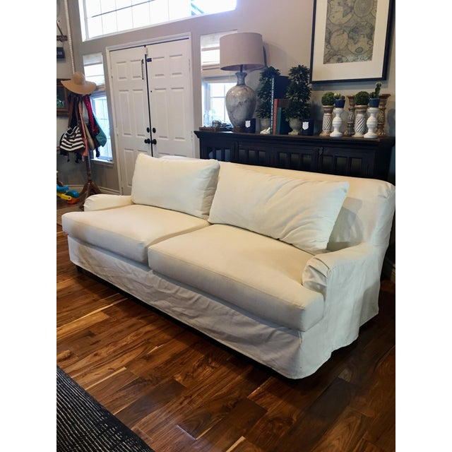Pottery Barn Carlisle Slipcovered Sofa For Sale In Los Angeles - Image 6 of 6