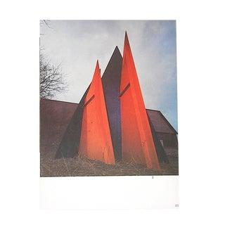 Vintage Mid 20th C. Quadrichrome Photographic Print-Derriere Le Miroir-Calder's Mobiles/Stabiles For Sale