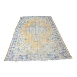 "Antique Handwoven Oushak Rug - 5'6"" x 8'9"""