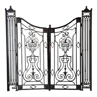 Antique French Garden Gates - A Pair For Sale