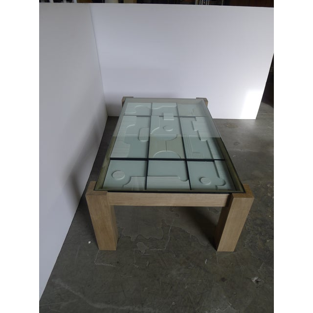 2010s Modernist Frieze Cocktail Table by Paul Marra For Sale - Image 5 of 10