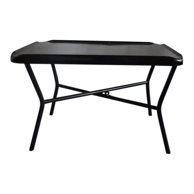 Russel Wright Black Metal Tray Table - Image 1 of 7