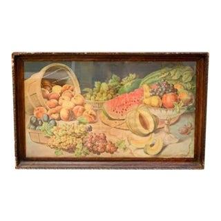 Antique Fruit Lithograph, Signed Donaldson Lith For Sale