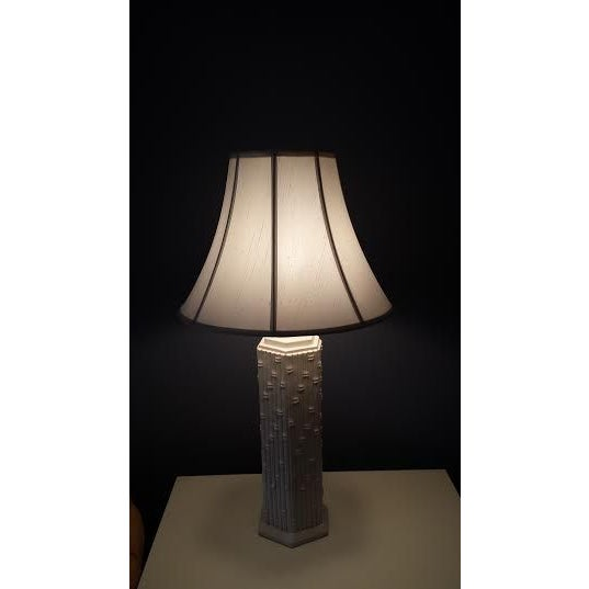 Blanc de Chine Faux Bamboo Lamp - Image 5 of 6