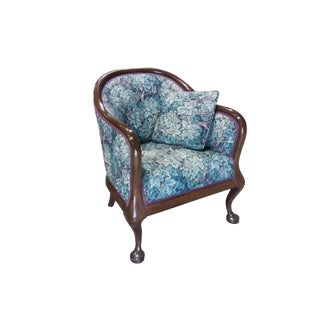 Late 19th Century Antique Mahogany Frame Victorian Armchair For Sale