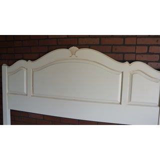 1990s French Country Ethan Allen Arch Panel Queen Headboard Preview