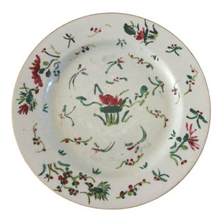 1736-1795 Qianlong Chinese Export Porcelain Famille Rose Plate For Sale