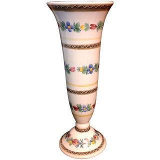 Vintage Hand Painted Keramik Austria Vase For Sale