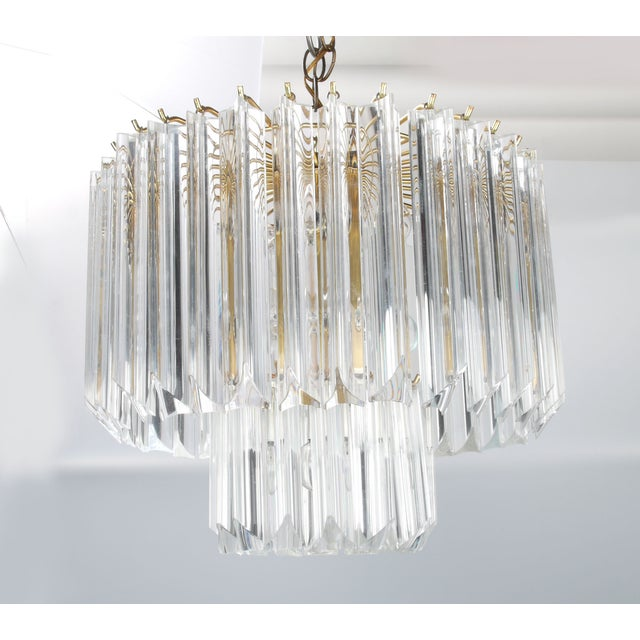 Round Brass & Lucite 11-Light Chandelier - Image 3 of 11