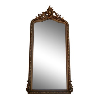19th Century Gold Gilt Wall Mirror Pier Mirror For Sale