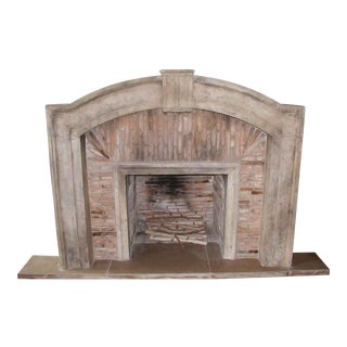 Italian Tuscan Marble Fireplace For Sale
