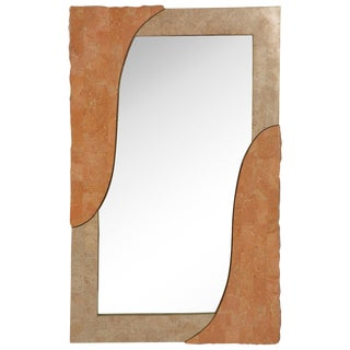 Modern Tessellated Marble and Stone Mirror For Sale