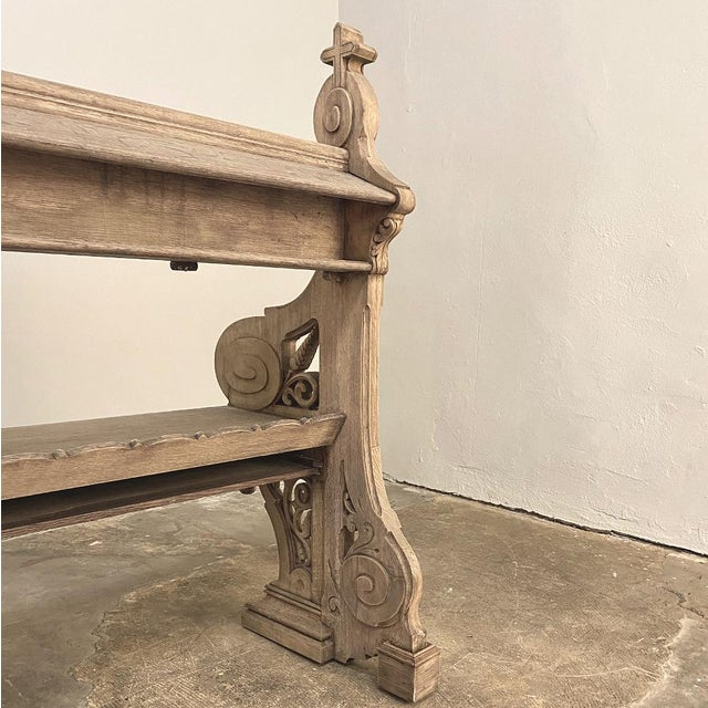 19th Century Gothic Revival Church Pew, Bench For Sale - Image 11 of 13