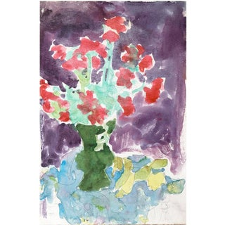 'Still Life of Flowers' by Victor Di Gesu; 1955, Paris, California Post-Impressionist, Academie Chaumiere, Louvre, Lacma For Sale