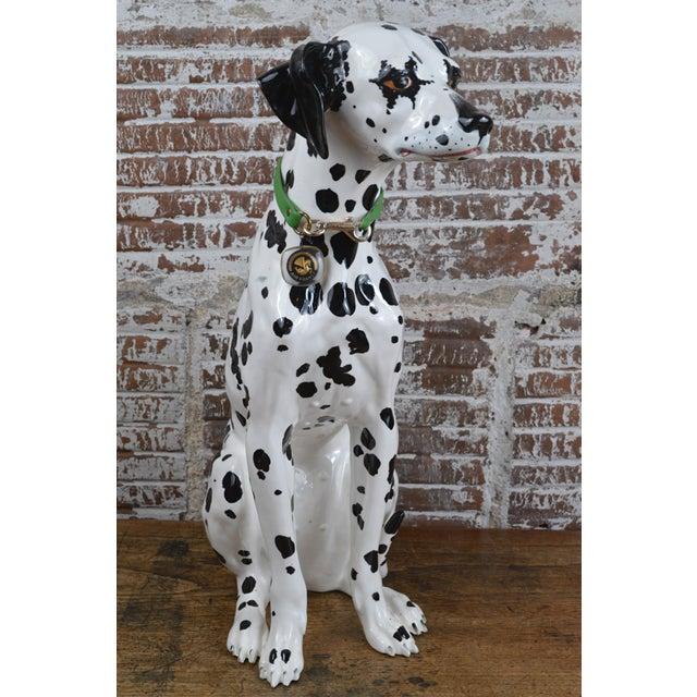 Figurative Vintage 1960s Ceramic Dalmatian Dog Figure For Sale - Image 3 of 13