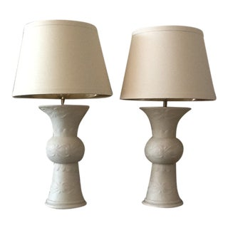 Arteriors Altar Off-White Regency Lamps - A Pair For Sale