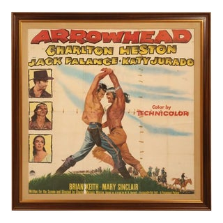Movie Poster of Arrowhead starring Charlton Heston, circa 1953 For Sale
