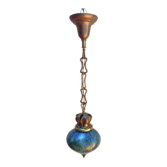 Art Nouveau Pendant Light - Image 1 of 3