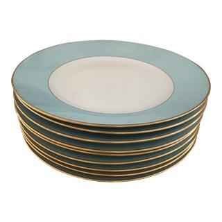 Tiffany Blue Royal Copenhagen Dinner Plates- Set of 8 For Sale