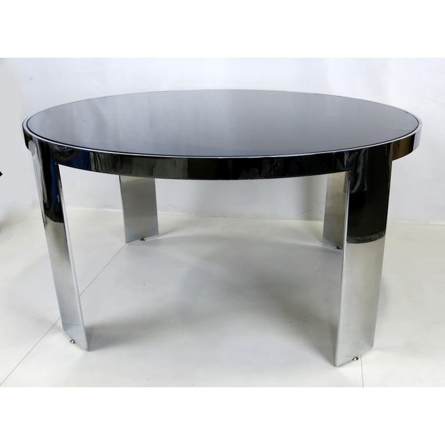 Pace Collection Polished Nickel Center Table by Pace For Sale - Image 4 of 5