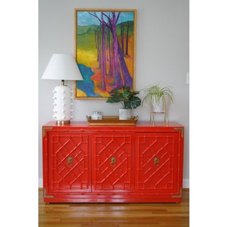 20th Century Campaign Thomasville Huntley Faux Bamboo Lacquered Credenza Preview