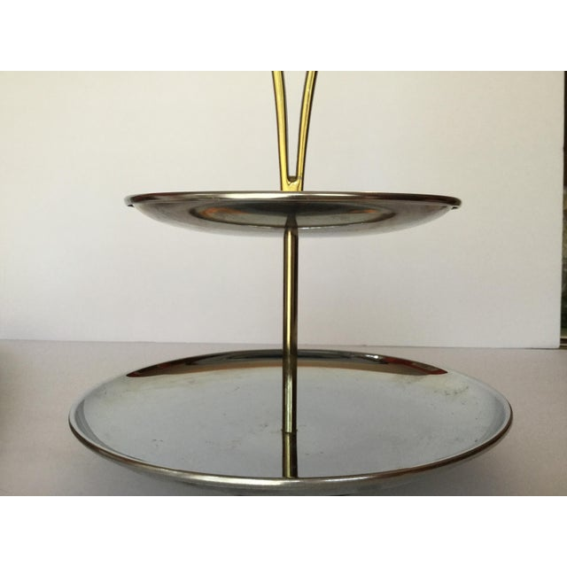 1960s Space Age Brass Serving Trays - Set of 2 For Sale - Image 10 of 13