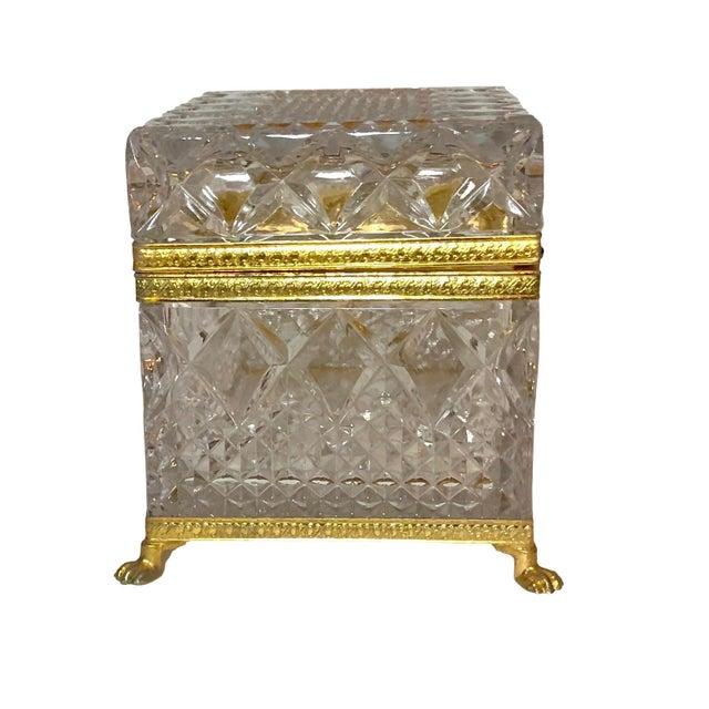 Mid-Century French Large Crystal Box For Sale In Tampa - Image 6 of 10