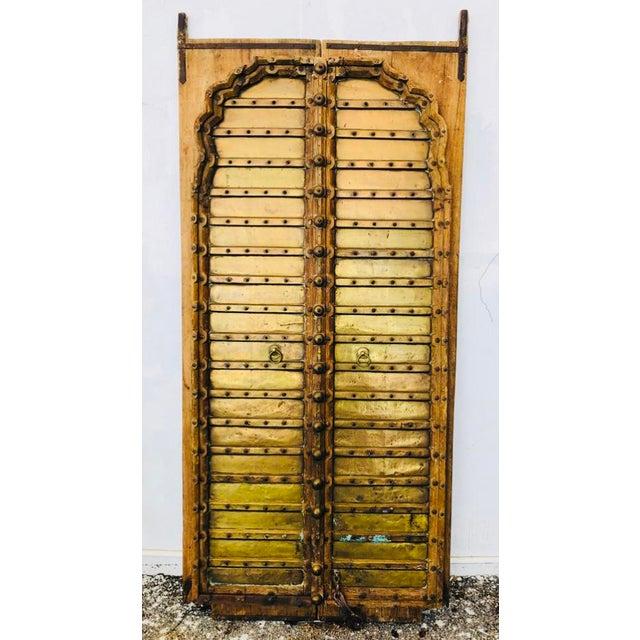Antique Indian Teak Wood Hand Carved Doors For Sale - Image 12 of 12